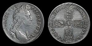 William III - Exeter Shilling - 1696E