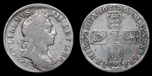William III - Shilling - 1697