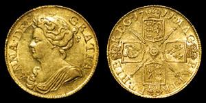 Anne - Gold Guinea - 1711