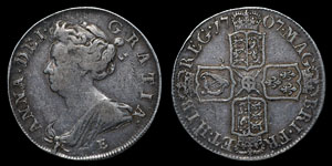 Anne - Edinburgh Halfcrown - 1707E