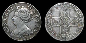 Anne - Edinburgh Shilling - 1707E