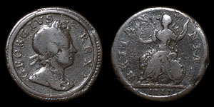 George I - Dump Farthing - 1717