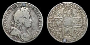 George I - Welsh Copper Company Shilling - 1723WCC