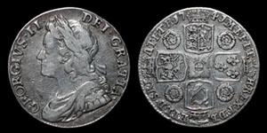 George II - Roses Shilling - 1741