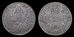 George II - Roses Shilling - 1747