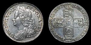 George II - Sixpence - 1758