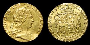 George III - Gold Quarter Guinea - 1762