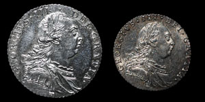 George III - Shilling and Sixpence - 1787