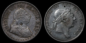 George III - Three Shilling Bank Tokens(2) - 1811 and 1813