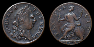 George III - Contemporary Forgery Halfpenny - 1775