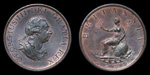 George III - Halfpenny - 1799