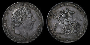 George III - Crown - 1820 (LX)