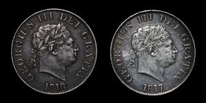 George III - Halfcrowns(2) - 1817, 1818