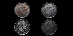 George III - Shillings(4) - 1816, 1817, 1819, 1820