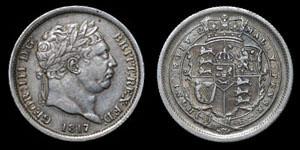 George III - Shilling - 1817 - RRITT flaw