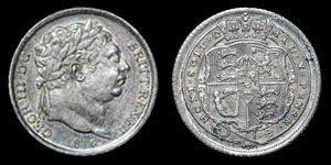 George III - Sixpence - 1816 - Broken Letters Flaw
