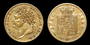 George IV - Gold Half Sovereign - 1825