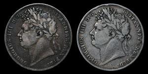 George IV - Halfcrowns(2) - 1820, 1821