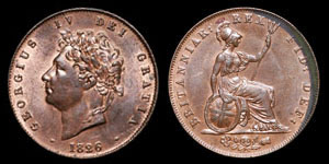 George IV - Halfpenny - 1826