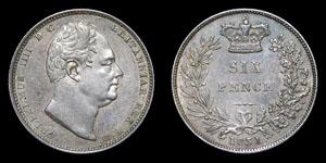 William IV - Sixpence - 1831