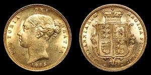 Victoria - Gold London Half Sovereign - 1885