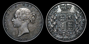 Victoria - Halfcrown - 1846