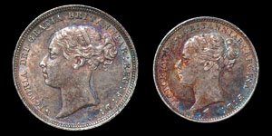 Victoria - Sixpence and Threepence - 1885