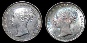Victoria - Groats(2) - 1840, 1849