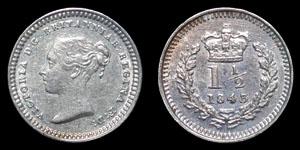 Victoria - Three-Halfpence - 1843