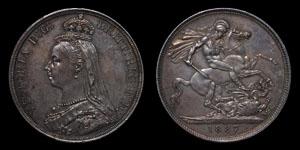 Victoria - Crown - 1887
