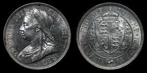 Victoria - Halfcrown - 1893