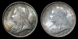 Victoria - Sixpences(2) - 1893, 1900
