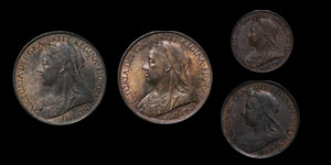 Victoria - Pennies(2), Halfpenny and Farthing - 1901(4)