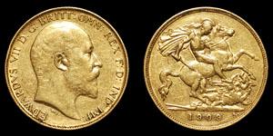 Edward VII - Gold Half Sovereign - 1909