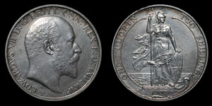 Edward VII - Matt Proof Florin - 1902