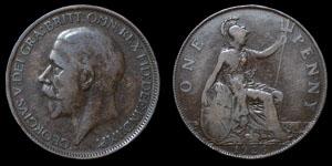 George V - Modified Effigy Penny - 1926ME