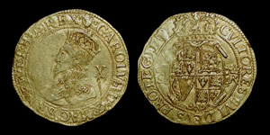 English Stuart - Charles I - Gold Double Crown