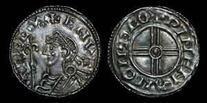 British Anglo-Saxon - Cnut - Short Cross Penny
