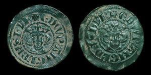 English Medieval - Edward I - Unique Double Obverse Penny Trial Piece