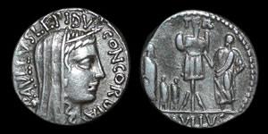 Roman Republic - L. Aemilius Lepidus Paullus - Denarius
