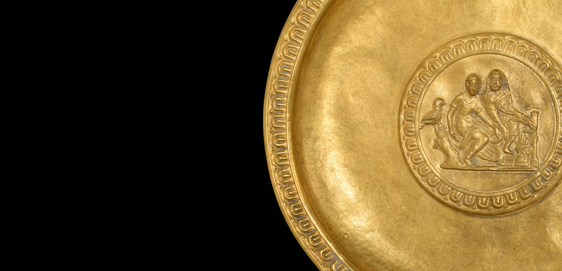 Gold Libation Dish with Offering Scene £80,000 - £100,000