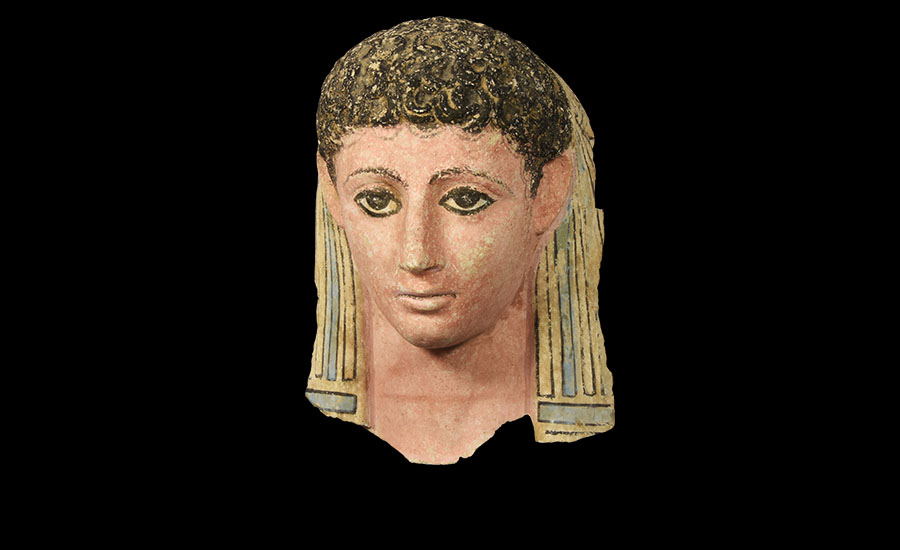 Lot 0004: Egyptian Stucco Polychrome Face Mask of a Young Female £30,000 - £40,000