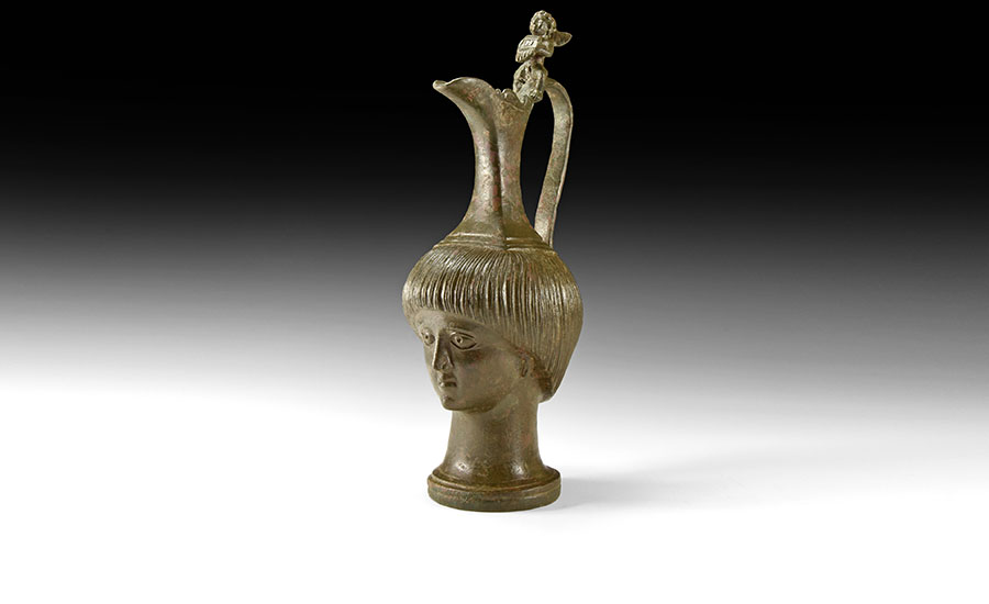 Lot 0111: Roman Oinochoe with Head of a Boy £6,000 - £8,000