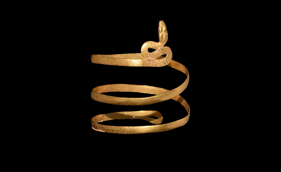 Lot 0026: Romano-Egyptian Gold Coiled Snake Bracelet £7,000 - £9,000