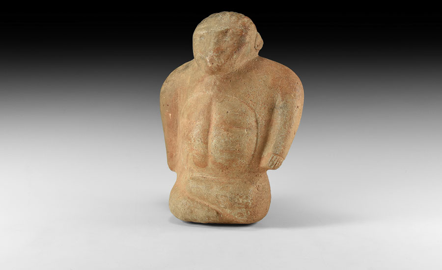 Lot 0431: Anatolian Crossed Legged Sitting Idol £8,000 - £10,000