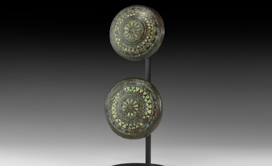 Gallo-Roman Large Celtic Enamelled Boss Pair