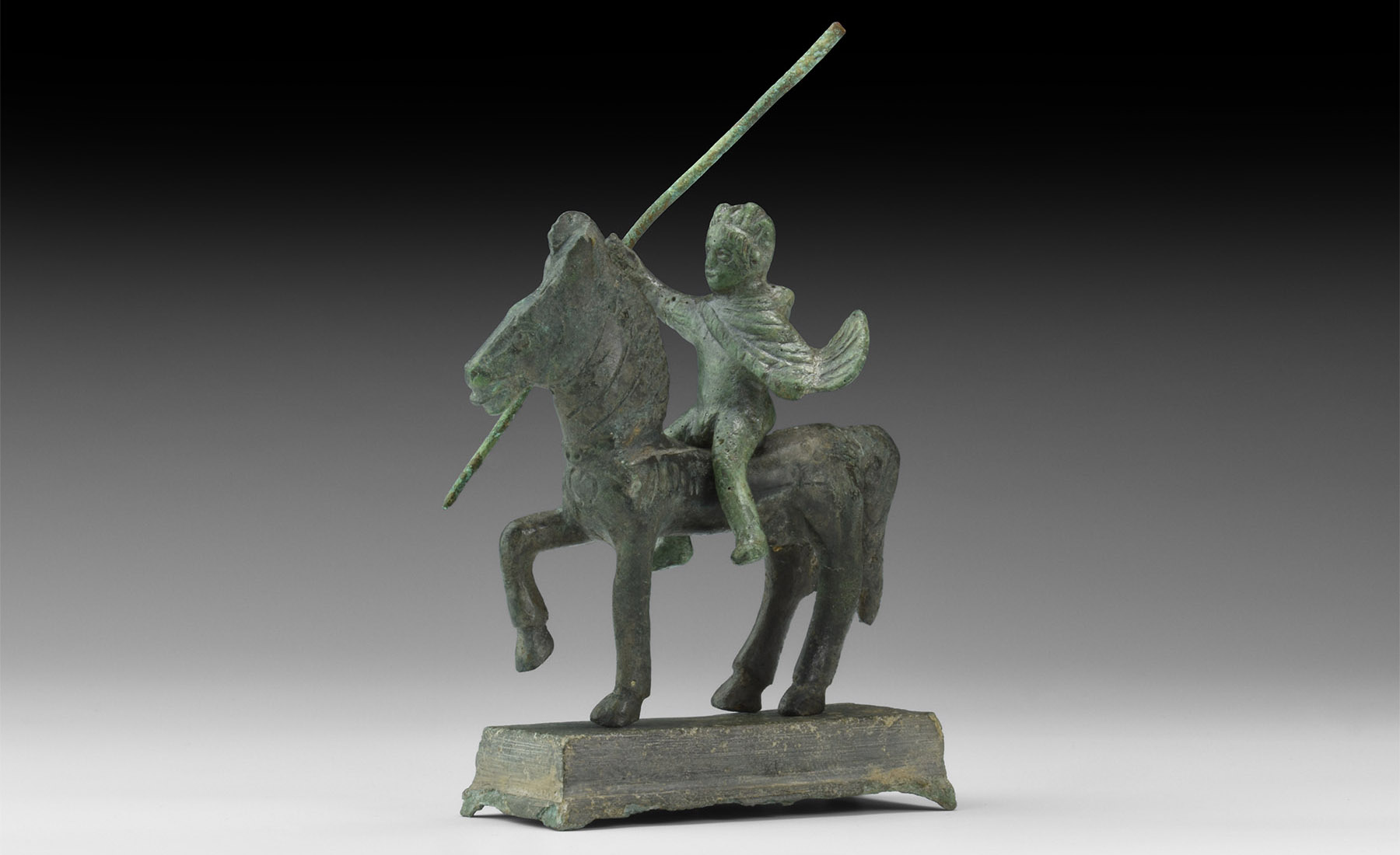 Iron Age Celtic Horse and Warrior Statuette