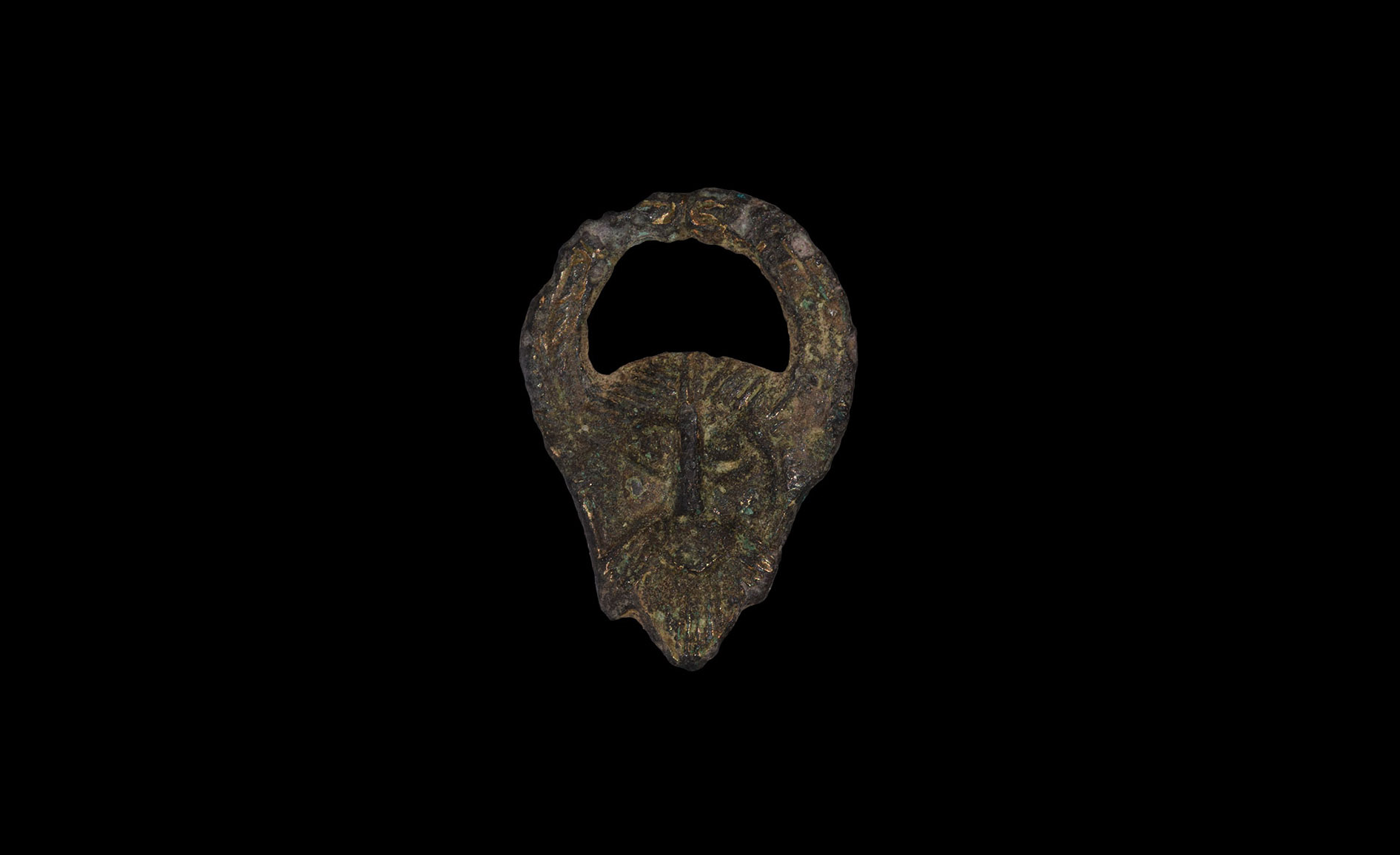 Anglo-Saxon Horned Woden's Head Applique