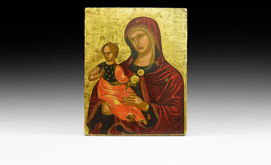 Medieval Veneto-Cretan Mother of God Icon