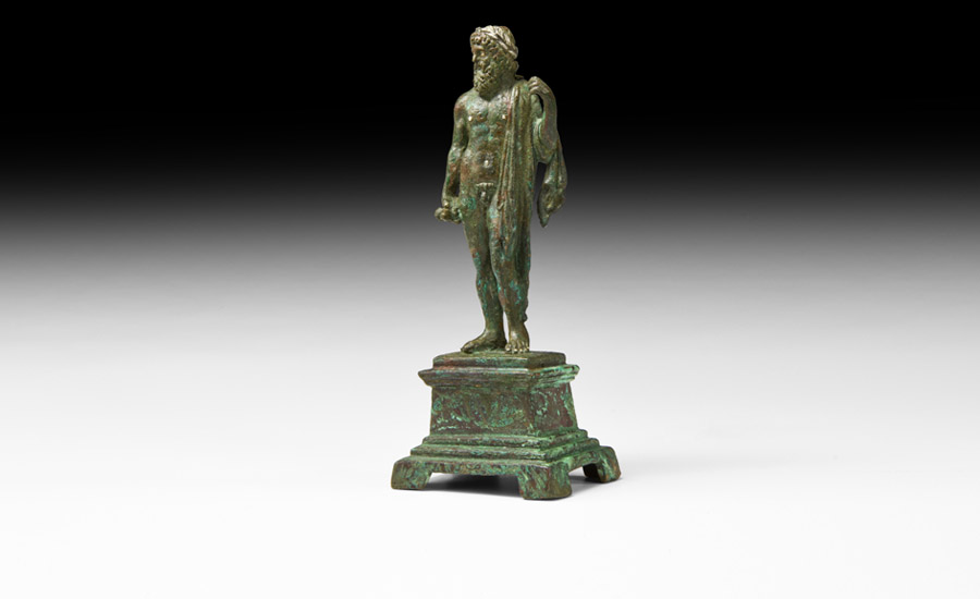 Roman Statuette of Jupiter with Thunderbolt